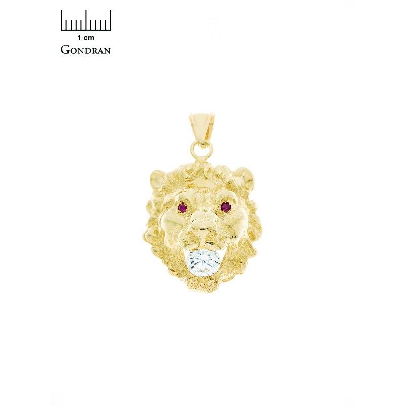 pendentif or homme